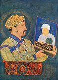Jahangir (Hindi: नूरुद्दीन सलीम जहांगीर Urdu: سلیم جهانگیر نورالدینPersian: نورالدین سلیم جهانگیر) (full title: Al-Sultan al-'Azam wal Khaqan al-Mukarram, Khushru-i-Giti Panah, Abu'l-Fath Nur-ud-din Muhammad Jahangir Padshah Ghazi [Jannat-Makaani]) (20 September 1569 – 8 November 1627) was the ruler of the Mughal Empire from 1605 until his death in 1627.<br/><br/>  The name Jahangir is from Persian جهانگیر,meaning 'World Conqueror'. Nur-ud-din or Nur al-Din is an Arabic name which means 'Light of the Faith'. Born as Prince Muhammad Salim, he was the third and eldest surviving son of Mogul Emperor Akbar. Akbar's twin sons, Hasan and Hussain, died in infancy. His mother was the Rajput Princess of Amber, Jodhabai (born Rajkumari Hira Kunwari, eldest daughter of Raja Bihar Mal or Bharmal, Raja of Amber, Rajasthan).<br/><br/>  Jahangir was a child of many prayers. It is said to be by the blessing of Shaikh Salim Chishti (one of the revered sages of his times) that Akbar's first surviving child, the future Jahangir, was born. The child was named Salim after the dervish and was affectionately addressed by Akbar as Sheikhu Baba.<br/><br/>  Jahangir was responsible for ending a century long struggle with the state of Mewar.The campaign against the Rajputs was pushed so extensively that the latter were made to submit and that too with a great loss of life and property.<br/><br/>  Jahangir died on the way back from Kashmir near Sarai Saadabad in 1627. His body was then transferred to Lahore to be buried in Shahdara Bagh, a suburb of Lahore, Punjab. He was succeeded by his third son, Prince Khurram who took the title of Shah Jahan. Jahangir's elegant mausoleum is located in the Shahdara locale of Lahore and is a popular tourist attraction in Lahore.